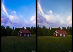 Fine art photography, Swedish, Sweden, red house